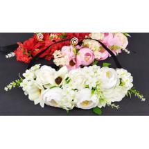 Повязка-амазонка для девочек с цветами