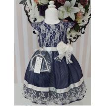 """Платье нарядное akkon синего цвета """"Кудряшка"""""""