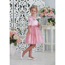 Платье нарядное розового цвета утонченная Франсуаза