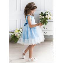Платье нарядное лазурно-голубое Ангелина