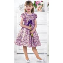 Платье нарядное сиреневое с цветочками Варвара