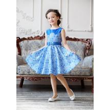 Платье нарядное синее с изысканным узором Ариадна