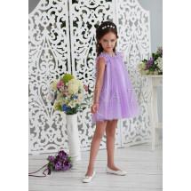 Платье-трапеция нарядное сиреневого цвета Шанталь