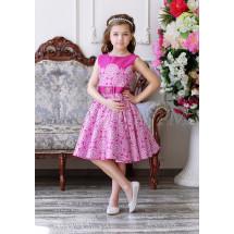 Платье нарядное малиновое с изысканным узором Ариадна