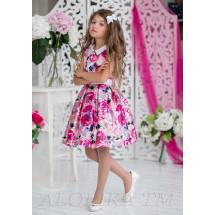 Платье нарядное с розовыми цветами Меган