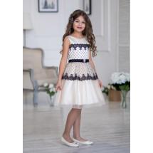 Платье нарядное ванильного цвета с ажурными фестонами Вайдона