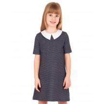 """Платье с коротким рукавом для девочек """"гусиная лапка"""""""