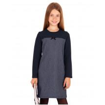 Платье серо-синий твид с синим верхом