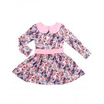 """Платье с длинным рукавом розового цвета """"весенний блюз"""""""