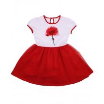 """Платье для девочек красного цвета """"маки"""""""