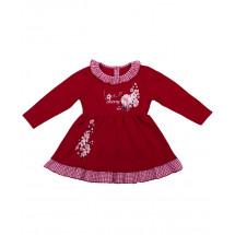 """Платье для малышек красного цвета """"Вишенка"""""""