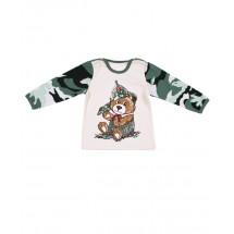 """Джемпер для малышей с камуфляжной расцветкой """"мишка"""""""