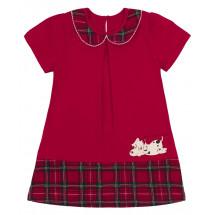 """Платье красного цвета в клетку """"Далматинец"""""""