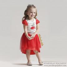 "Комплект летний красного цвета bebus ""Балерина"""