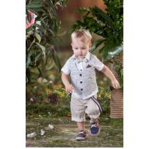 Костюм для мальчиков с бежевыми шортами bebus из пяти предметов
