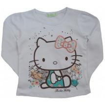 "Кофта на девочку белая с длинным рукавом ""Hello Kitty"""