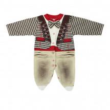 Комбинезон с имитацией костюмчика для малышей