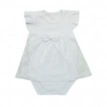 Платье-боди белое на малышку