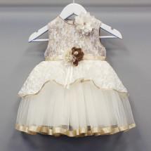 Платье нарядное для девочки цвета капучино Юнона