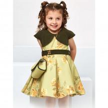 """Платье нарядное зеленого цвета с имитацией болеро """"Фиона"""""""