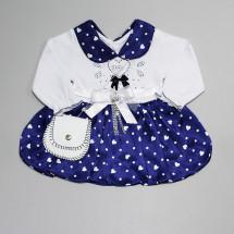 Платье нарядное на малышек с сердечками