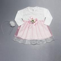 Платье нарядное для малышек с розовой сеточкой Зита