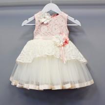 Платье нарядное для девочки нежно розового цвета Юнона