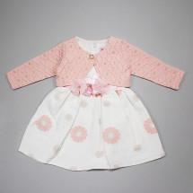 Платье нарядное с розовым болеро Маргаритка