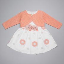 Платье нарядное с персиковым болеро Маргаритка