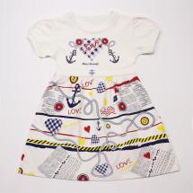 Платье летнее на девочку морячка (маломерка)