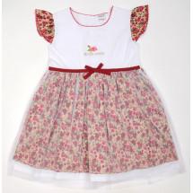 Платье с сеткой бордовые розочки