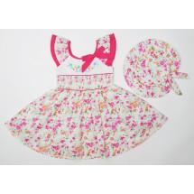 Платье с шляпкой цветочный сад
