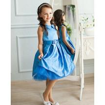 Платье нарядное синее с узорами Бонита