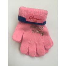 Перчатки зимние светло-розового цвета Hello Kitty