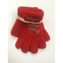Перчатки зимние красного цвета Hello Kitty