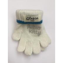 Перчатки зимние белого цвета Hello Kitty