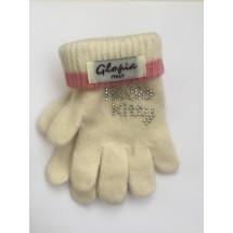 Перчатки зимние молочного цвета Hello Kitty