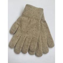 Перчатки зимние серого цвета