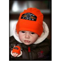 """Шапка весенняя для мальчиков оранжевого цвета """"Rider"""""""
