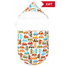 Конверт для новорожденного «Берегись автомобиля!», осенний/весенний
