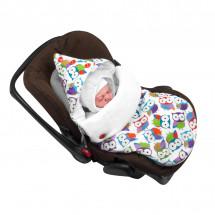 Конверт для новорожденного в автокресло «Цветные сны», осенний/весенний
