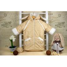 Конверт-мешок для новорожденного бежевого цвета «Заяц», осенний/весенний