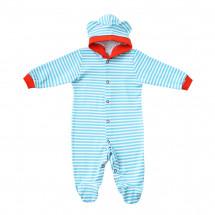 Комбинезон для малышей в голубую полоску с ушками