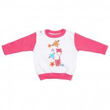 """Джемпер ярко-розового цвета для малышей """"веселая компания"""""""