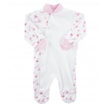 Комбинезон розового цвета для малышей с зайчиками