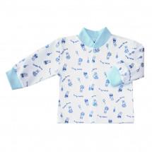 Кофточка голубого цвета для малышей с зайчиками