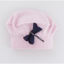"""Берет демисезонный розового цвета для девочек """"Стрекоза"""""""