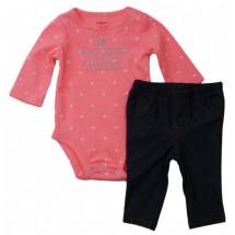 Комплект на малышку боди и штанишки под джинсу