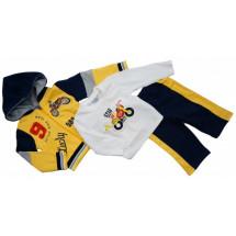 Комплект на малышей желтого цвета для прогулок