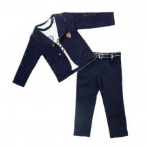 Костюм стильный на мальчика (брюки, пиджак и лонгслив)